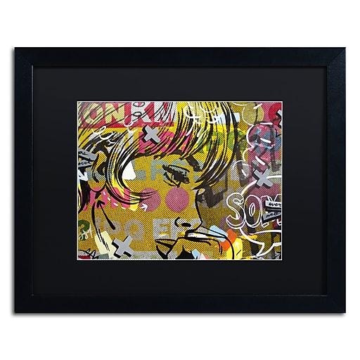 "Trademark Fine Art ''Every Sometimes'' by Dan Monteavaro 16"" x 20"" Black Matted Black Frame (886511779204)"