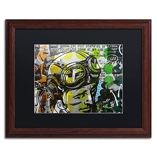 "Trademark Fine Art ''He Man'' by Dan Monteavaro 16"" x 20"" Black Matted Wood Frame (886511779440)"