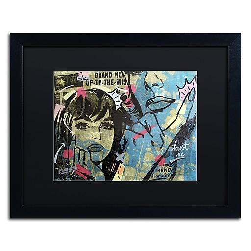 "Trademark Fine Art ''New Dramatic'' by Dan Monteavaro 16"" x 20"" Black Matted Black Frame (886511780644)"