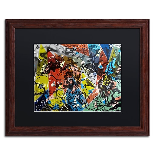 "Trademark Fine Art ''Popularity Everyone is Doing It'' by Dan Monteavaro 16"" x 20"" Black Matted Wood Frame (886511780798)"