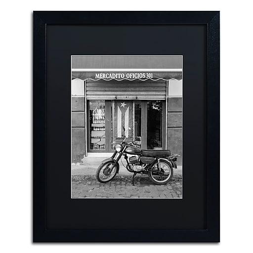 "Trademark Fine Art ''Mercadito Oficios'' by Moises Levy 16"" x 20"" Black Matted Black Frame (886511875494)"