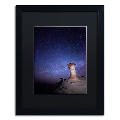 "Trademark Fine Art ''Starry Night in Arizona I'' by Moises Levy 16"" x 20"" Black Matted Black Frame (886511878495)"