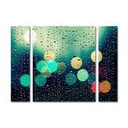 "Trademark Fine Art ''Rainy City'' by Beata Czyzowska Young 30"" x 41"" Multi Panel Art Set Large (886511916210)"