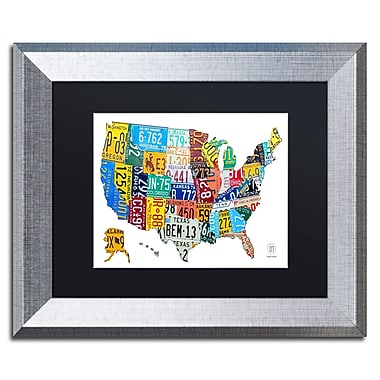 Trademark Fine Art ''License Plate Map USA 2'' by Design Turnpike 11