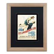 "Trademark Fine Art ''It's a Wonderful Life'' by Vintage Apple Collection 16"" x 20"" Black Matted Wood Frame (886511837683)"