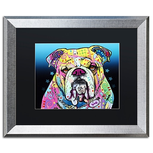 "Trademark Fine Art ''The Bulldog'' by Dean Russo 16"" x 20"" Black Matted Silver Frame (886511837966)"