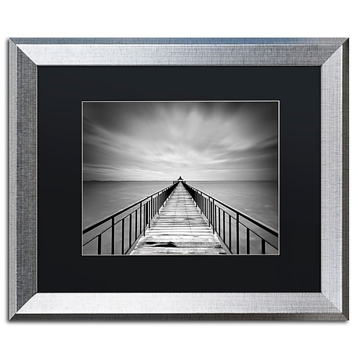"Trademark Fine Art ''Withstand'' by Michael de Guzman 16"" x 20"" Black Matted Silver Frame (886511838369)"