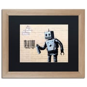 "Trademark Fine Art ''Robot'' by Banksy  16"" x 20"" Black Matted Wood Frame (886511839441)"