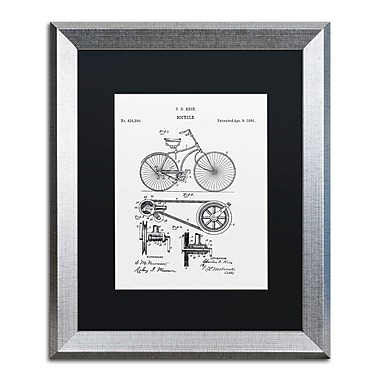 Trademark Fine Art ''Bicycle Patent 1890 White'' by Claire Doherty 16