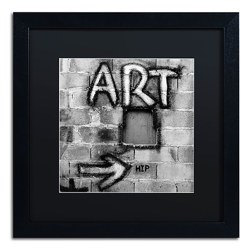 "Trademark Fine Art ''Art'' by Moises Levy 16"" x 16"" Black Matted Black Frame (886511871656)"