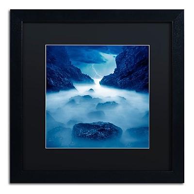 Trademark Fine Art ''Tormenta en Ixtapa Blue'' by Moises Levy 16