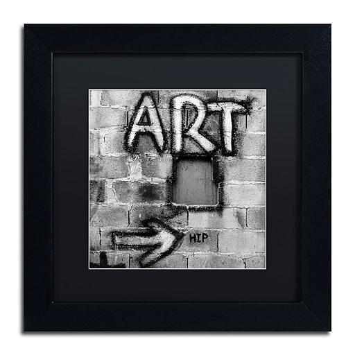 "Trademark Fine Art ''Art'' by Moises Levy 11"" x 11"" Black Matted Black Frame (886511871632)"