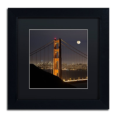 Trademark Fine Art ''Golden Gate and Moon'' by Moises Levy 11