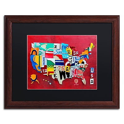 Trademark Fine Art ''License Plate Map Miniature'' by Design Turnpike 16
