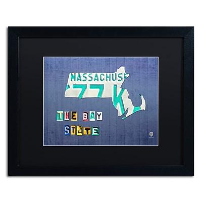 Trademark Fine Art ''Massachusetts License Plate'' by Design Turnpike 16