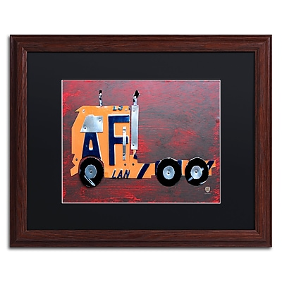 Trademark Fine Art ''Semi Truck'' by Design Turnpike 16