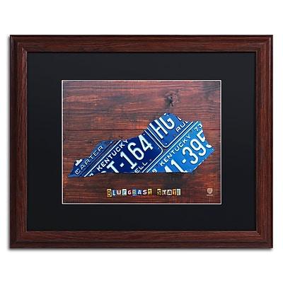 Trademark Fine Art ''Kentucky License Plate Map'' by Design Turnpike 16