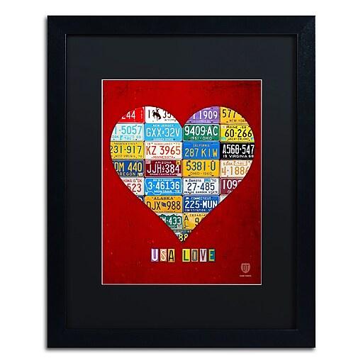"Trademark Fine Art ''Heart'' by Design Turnpike 16"" x 20"" Black Matted Black Frame (886511911383)"