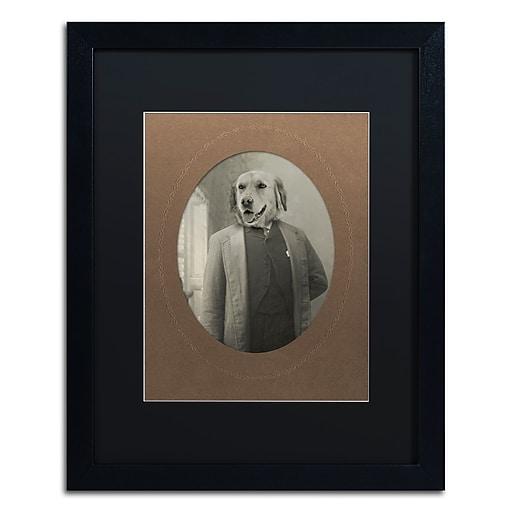"Trademark Fine Art ''Dog Series #2'' by J Hovenstine Studios 16"" x 20"" Black Matted Black Frame (886511912809)"