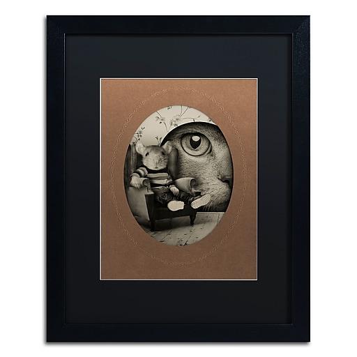 "Trademark Fine Art ''Mice Series #3'' by J Hovenstine Studios 16"" x 20"" Black Matted Black Frame (886511913707)"