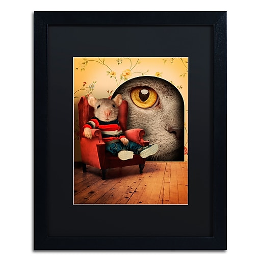 "Trademark Fine Art ''Mice Series #3.5'' by J Hovenstine Studios 16"" x 20"" Black Matted Black Frame (886511913806)"