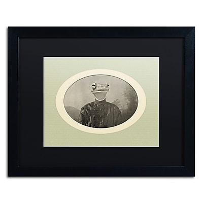 "Trademark Fine Art ''Reptiles #1'' by J Hovenstine Studios 16"" x 20"" Black Matted Black Frame (886511914803)"