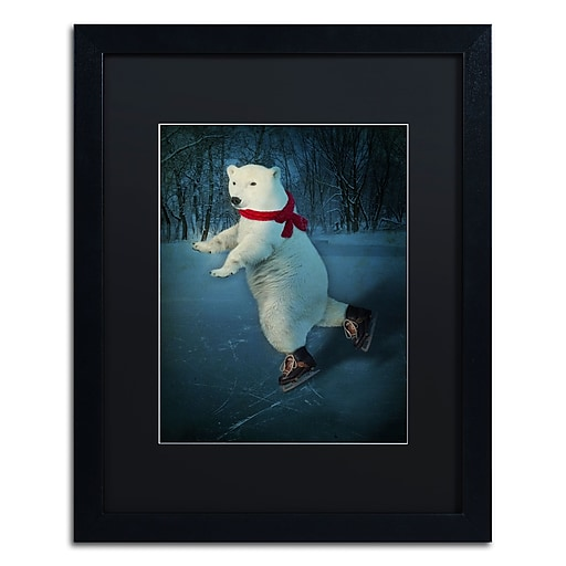 """Trademark Fine Art ''By The Light Of The Moon'' by J Hovenstine Studios 16"""" x 20"""" Black Matted Black Frame (886511915404)"""