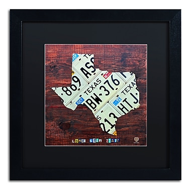 Trademark Fine Art ''Texas License Plate Map Large'' by Design Turnpike 16