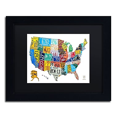 Trademark Fine Art ''License Plate Map USA 2'' by Design Turnpike 11