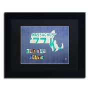 "Trademark Fine Art ''Massachusetts License Plate'' by Design Turnpike 11"" x 14"" Black Matted Black Frame (886511907621)"