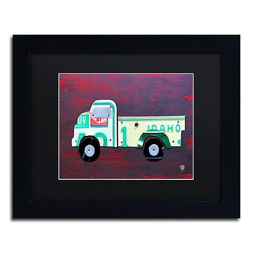 "Trademark Fine Art ''Pickup Truck'' by Design Turnpike 11"" x 14"" Black Matted Black Frame (886511908741)"