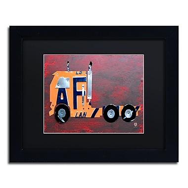Trademark Fine Art ''Semi Truck'' by Design Turnpike 11