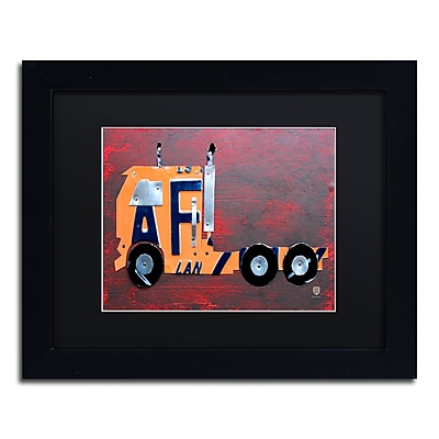 Trademark Fine Art ''Semi Truck'' by Design Turnpike 11