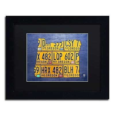 Trademark Fine Art ''Oregon License Plate Map'' by Design Turnpike 11