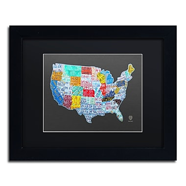 Trademark Fine Art ''Massive USA License Plate Map'' by Design Turnpike 11