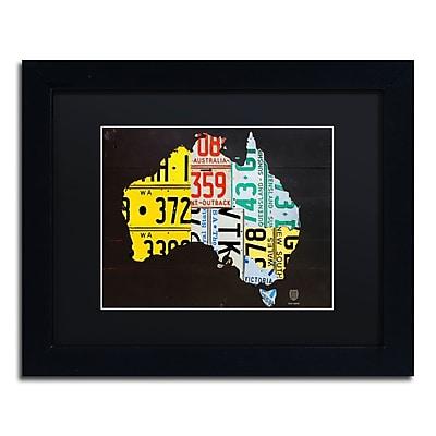 Trademark Fine Art ''Australia License Plate Map'' by Design Turnpike 11