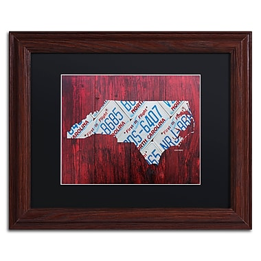 Trademark Fine Art ''North Carolina License Plate Map'' by Design Turnpike 11