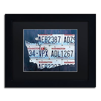 Trademark Fine Art ''Washington License Plate Map'' by Design Turnpike 11