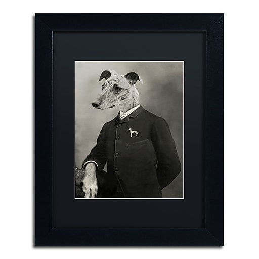 "Trademark Fine Art ''Dog Series #6'' by J Hovenstine Studios 11"" x 14"" Black Matted Black Frame (886511913189)"