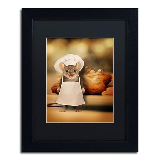 "Trademark Fine Art ''Mice Series #6.5'' by J Hovenstine Studios 11"" x 14"" Black Matted Black Frame (886511915084)"