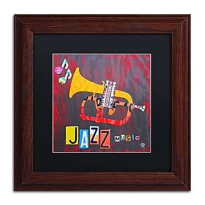 Trademark Fine Art ''Jazz Series Trumpet'' by Design Turnpike 11