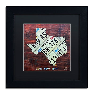 Trademark Fine Art ''Texas License Plate Map Large'' by Design Turnpike 11
