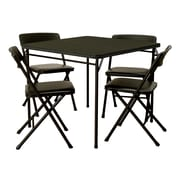 Cosco 5 Piece Folding Table And Chair Set, Black