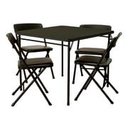 Cosco - Ensemble de table et chaises pliantes, 5 pièces, noir