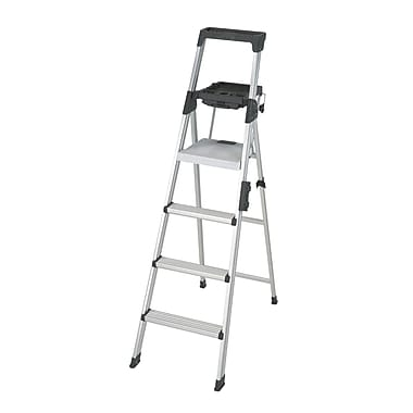 Cosco Signature Series 6ft Premium Step Ladder Type 1A, Black/Silver
