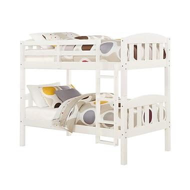 Dorel Living - Lit simple/superposé en bois, transformable, blanc