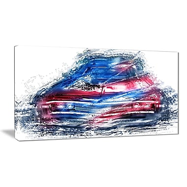 Designart Classic Low Rider Small Gallery Wrapped Canvas, (PT2617-32x16)