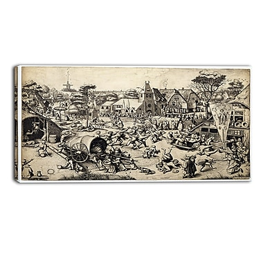 Designart Pieter Bruegel, The Fair of Saint Georges Day Canvas Art Print, (PT4864-32-16)