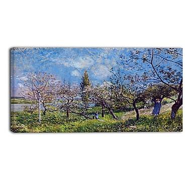 Designart Alfred Sisley, Orchard in Spring Master Piece Landscape Artwork, (PT4130-32-16)