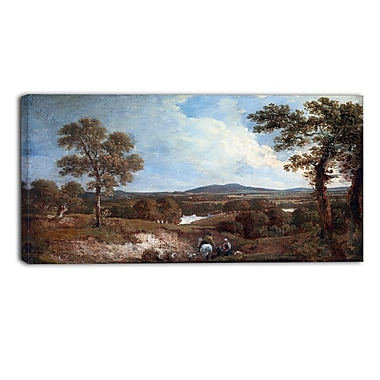 Designart George Howland, Landscape with Figure in Foreground Landscape Canvas Art Print, (PT4416-40-20)
